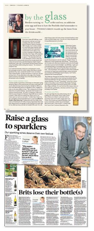 Yvonne Lorkin Wine Review Newspaper Columns