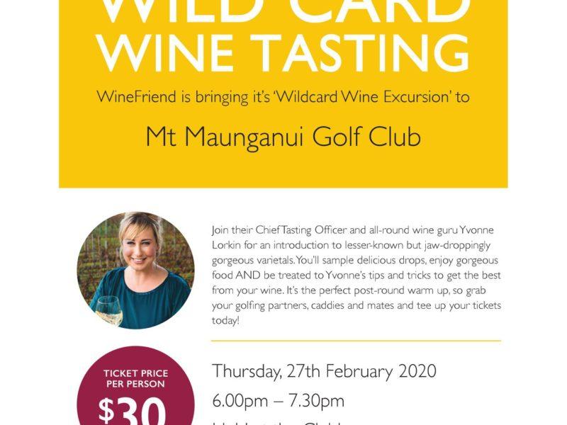 Wildcard Wine Tasting Mount Maunganui Golf!