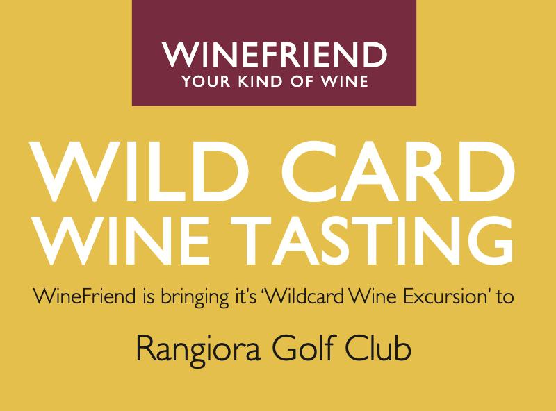 WineFriend Wildcard Tasting at Rangiora Golf Club